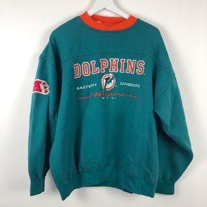 Vintage Lee Miami Dolphins Sweatshirt Size XL